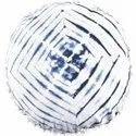 Indigo Tie Dye Sofa Cushion Cover Natural Shibori Tie Dye 100% Cotton Round Pom Pom Pillow Cover