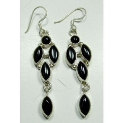 Black Onyx 925 Sterling Silver Fashion Earrings