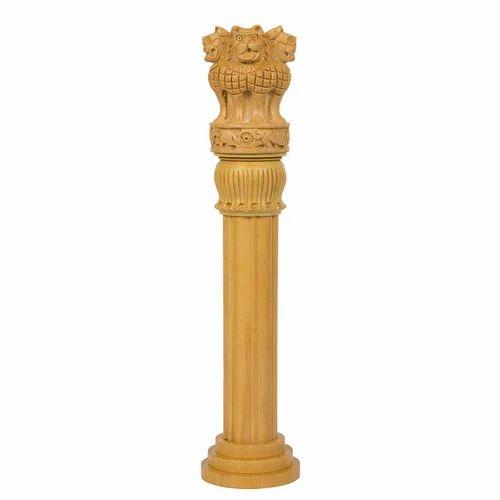 12 Inch Wooden Ashoka Pillar