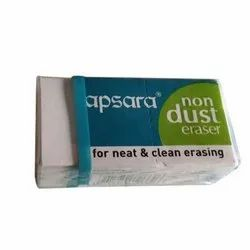 White Rubber Apsara Non Dust Eraser, For Sketching, Writing