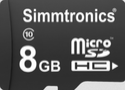 Simmtronics 8 GB Micro SDHC Memory Card