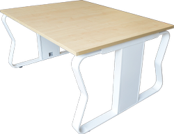 Metal WHITE Modern Office Table Frame Mrp Rate, Size: 1200L X 1200D (W/0 RISER), For Corporate Office