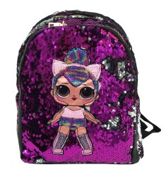 Printed Sequin Kids Backpack