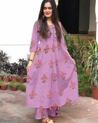 Cotton Cambric Printed Palazzo Suit