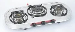 Cooktop CT-3BR /SS /TR (Stainless Steel Triple Ring Three Burner)