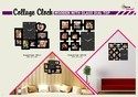 Wooden Wall Collage Clocks Cum Photo Frame