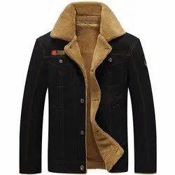 Denim Jacket With Fur Lining