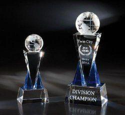 Globe Twin City Crystal Trophy