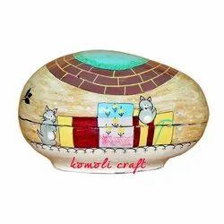 Igloos Home Egg Shapped Paper Mache Box