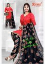 Red Printed Ladies Suit
