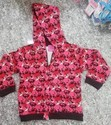 Red Cotton Kitten's Hoodies with Zipper