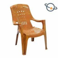 Hanumant Brown Comfort Plastic Chair, Weight: 1.5 Kg
