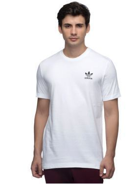 Cotton Round Mens Adidas Originals White Tee 6b216cc76f8c
