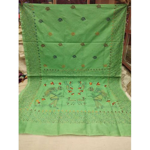 Cotton Kantha Saree, 5.5 M separate Blouse Piece