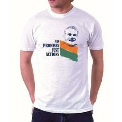 Cotton White Printed T-Shirt