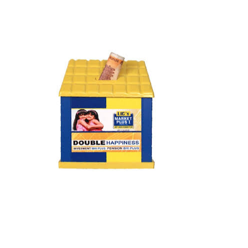 Yellow & Blue LIC Money Box