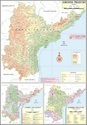 Full Colour Laminated Paper Andhra Pradesh For Political State Map, Size: 70x100