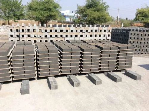 Rectangular Gray Fly Ash Bricks