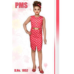 Pink Party Wear Girls Western Dress