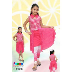 Party Wear Kids Long Top With Legging