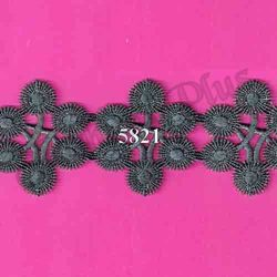 Designer and Fancy Gray Zari Lace