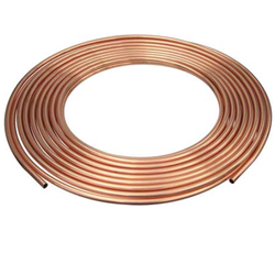 Round Golden Copper Pipe, for Air Condition