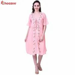 Gorgy Women Embroidered Dress with Inner
