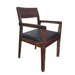 RF Brown, Black Dining Chair Teak Wood, No Of Legs: 4
