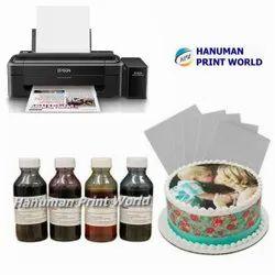 Epson Edible Tank Printer Complete Set Including 4 Edible Ink Bottles & 25 Icing Sheets