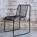 Restaurant Dining Chair in Industrial Design for Outdoor Hospitality Use