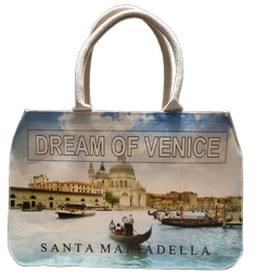 Venice digital Print Canvas Bag