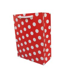 Red Polka Dot Return Gift Bags, 200, Capacity: 2kg