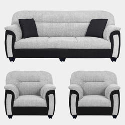 Bharat Lifestyle Grey and Cream Sagittarius Sofa Set