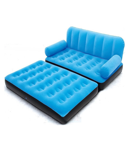 Leather Blue Double Air Sofa Bed Re Mass Id 15912259355