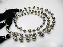 AAA Quality Silver Pyrite Onion Shape Beads size 7 mm