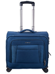 Blue Polyester Trolley Laptop Bag