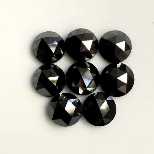 5mm Black Rose Cut Diamond