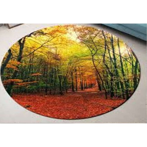 Polyester Round Luxury Rug For Floor, 10 Foot Round Rug