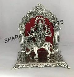 Silver Plated Durga Mata Statue