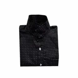 Mens Assorted Dot Printed Readymade Cotton Shirt, Size: Medium and Large size