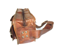 Double Compartment Vintage Leather Bag