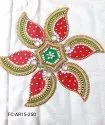 Paisley Red Green Acrylic Rangoli
