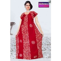 Mahabali Printed Ladies Full Length Cotton Night Gown