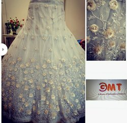 4 fancy colour matching Party Wear Full Frill Designer Lehanga Choli, 2.50 Mtr, 18