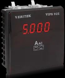VERITEK 7 Segment Led Display Single Phase Ammeter, Model Name/Number: Vips92e, Size: 96x96