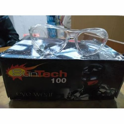 Glass Plastic Suntech 100 Protective Eyewear, For Eye Safety, Packaging Type: Box