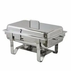 Brass Leg Rectangle Lift Top Chafing Dish