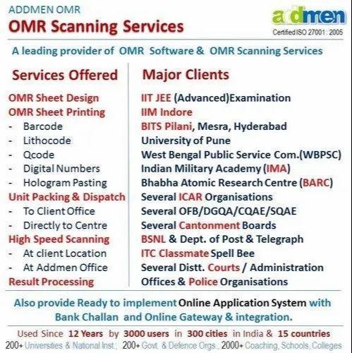 OMR Scanning Service