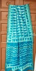 CHANDERI BLOCK PRINT SILK SAREE