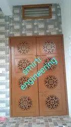 Open Type Hinged Powder Coated Steel Door